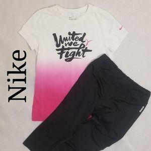 Nike United We Fight Shirt, Reebok Athletic Capris